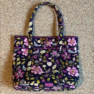 Vera Bradley Purple Bird Large Tote